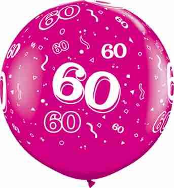 60 Fashion Wild Berry Latex Round 36in/90cm