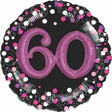 60 Pink Celebration Multi Foil Round 32in/81cm