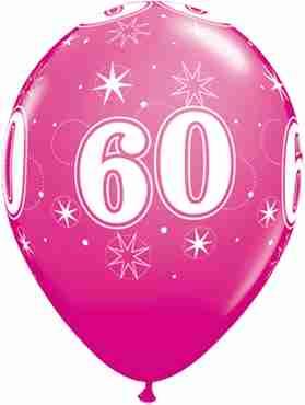 60 Sparkle Fashion Wild Berry Latex Round 11in/27.5cm