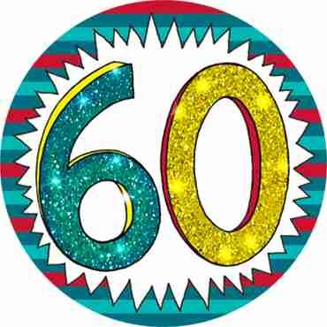 60 Wow Badge