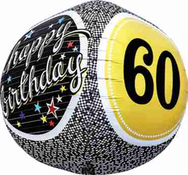 60th Birthday Milestone Sphere 17in/43cm
