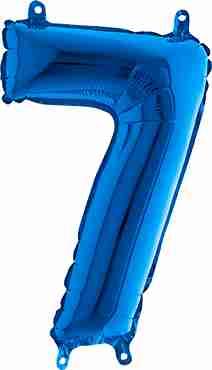 7 Blue Foil Number 26in/66cm
