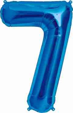 7 Blue Foil Number 34in/86cm