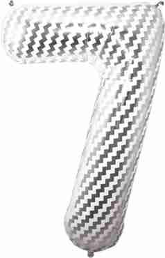 7 Chevron Foil Number 34in/86cm