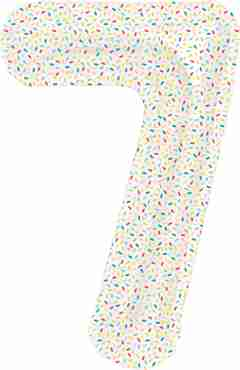 7 Sprinkles Foil Number 16in/40cm