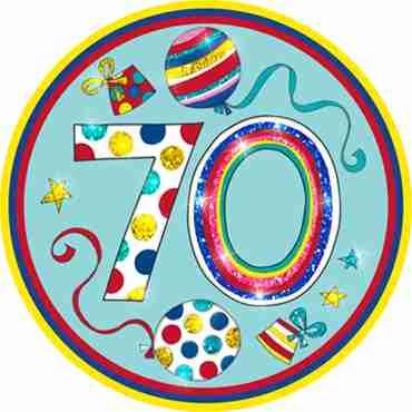 70 Happy Birthday Badge