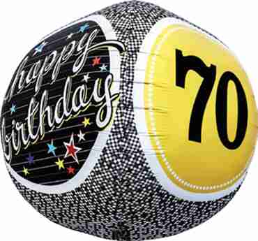 70th Birthday Milestone Sphere 17in/43cm