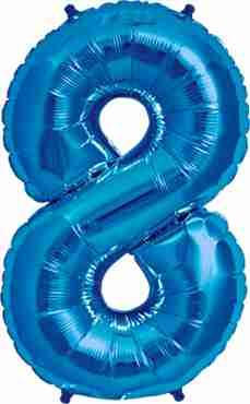 8 Blue Foil Number 34in/86cm