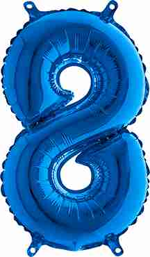 8 Blue Foil Number 40in/100cm