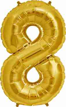 8 Gold Foil Number 7in/18cm