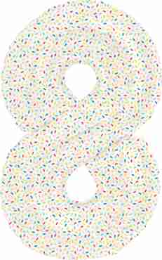 8 Sprinkles Foil Number 16in/40cm