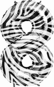 8 Zebra Foil Number 34in/86cm