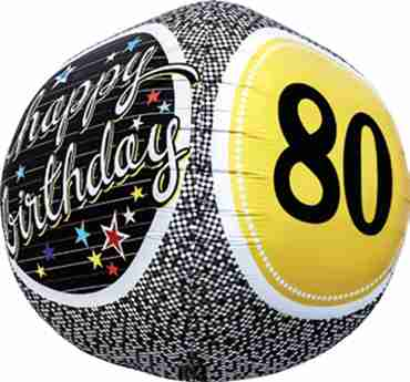 80th Birthday Milestone Sphere 17in/43cm
