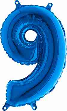 9 Blue Foil Number 26in/66cm