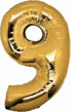 9 Gold Foil Number 8in/20cm