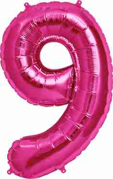 9 Magenta Foil Number 34in/86cm
