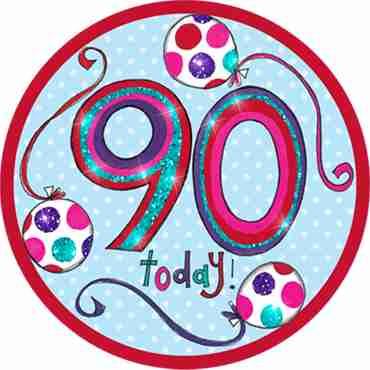 90 Happy Birthday Badge
