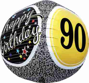 90th Birthday Milestone Sphere 17in/43cm