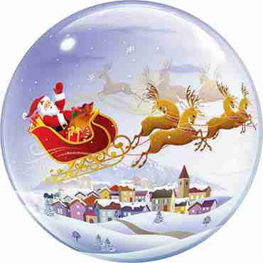 A Visit From St Nicholas Single Bubble 22in/55cm