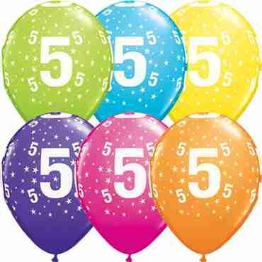 Age 5 Stars Retail Assortment Latex Round 11in/27.5cm