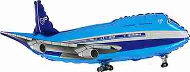 Airplane Blue Foil Shape 29in/74cm