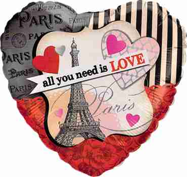 All You Need Is Love Foil Heart 18in/45cm