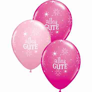 alles gute sparkle standard pink and fashion wild berry assortment latex round 11in/27.5cm