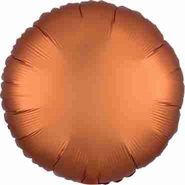 Amber Satin Luxe Foil Round 17in/43cm