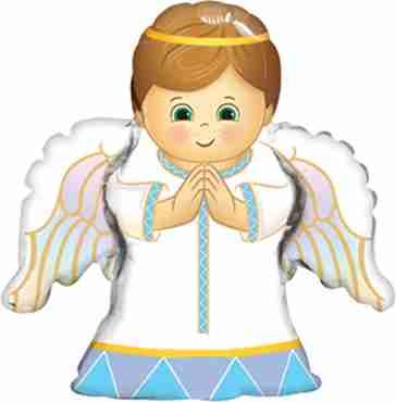 Angel Boy Foil Shape 14in/35cm