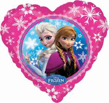 Anna & Elsa Vendor Foil Heart 18in/45cm