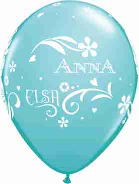 anna, elsa and olaf fashion caribbean blue latex round 11in/27.5cm