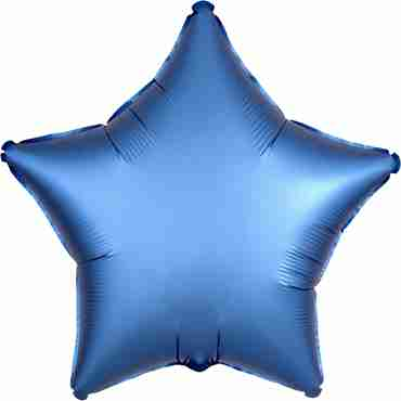 Azure Satin Luxe Foil Star 17in/43cm