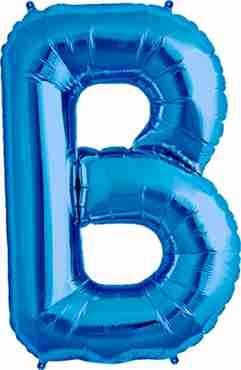 B Blue Foil Letter 16in/40cm