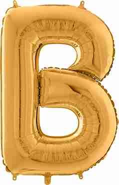 B Gold Foil Letter 26in/66cm