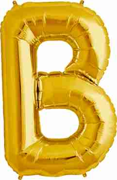B Gold Foil Letter 34in/86cm