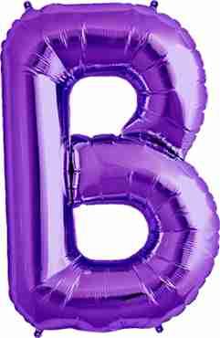B Purple Foil Letter 34in/86cm