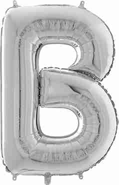 B Silver Foil Letter 26in/66cm