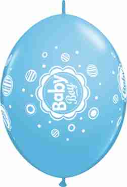 baby boy dots standard pale blue quicklink 12in/30cm