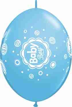 Baby Boy Dots Standard Pale Blue QuickLink 12in/30cm