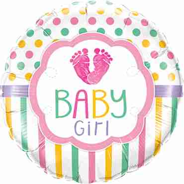 Baby Girl LO(Feet)E Foil Round 18in/45cm