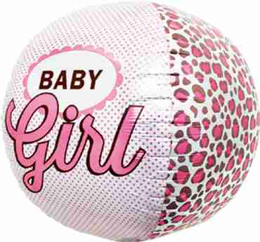 baby girl sphere 17in/43cm