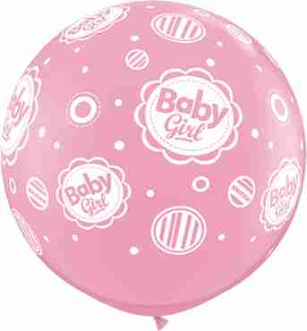 baby girl standard pink latex round 36in/90cm