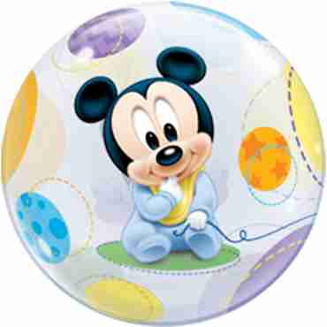 baby mickey single bubble 22in/55cm
