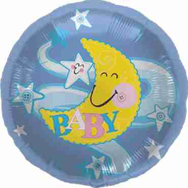 Baby Moon Stars Foil Round 18in/45cm
