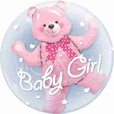 baby pink bear double bubble 24in/60cm