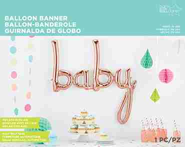 Baby Script Rose Gold 45in/114cm