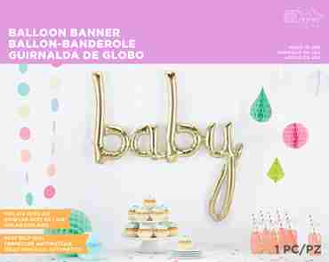 Baby Script White Gold 45in/114cm