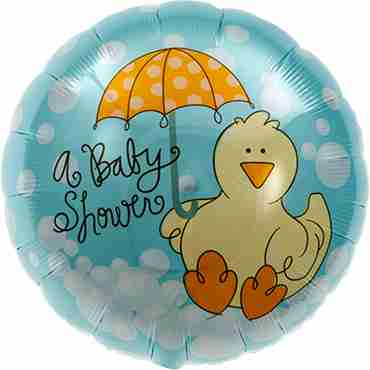 Baby Shower Ducky Foil Round 18in/45cm