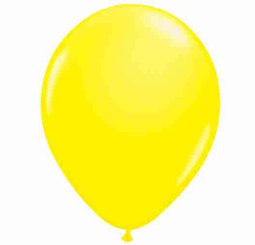 Ballon 25cm geel neon