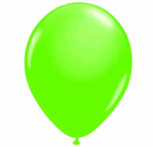 Ballon 25cm groen neon